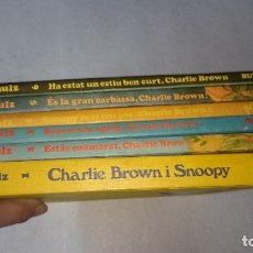 Cómics: LOTE 6 NUMEROS CHARLIE BROWN Y SNOOPY BURU LAN EN CATALÁSN TAPA DURA. Lote 110511119