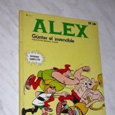 Cómics: ALEX Nº 16. GUNTER EL INVENCIBLE. EL TESORO OCULTO. UN SACO LLENO DE IDEAS. BURU LAN, 1974. Lote 110803787