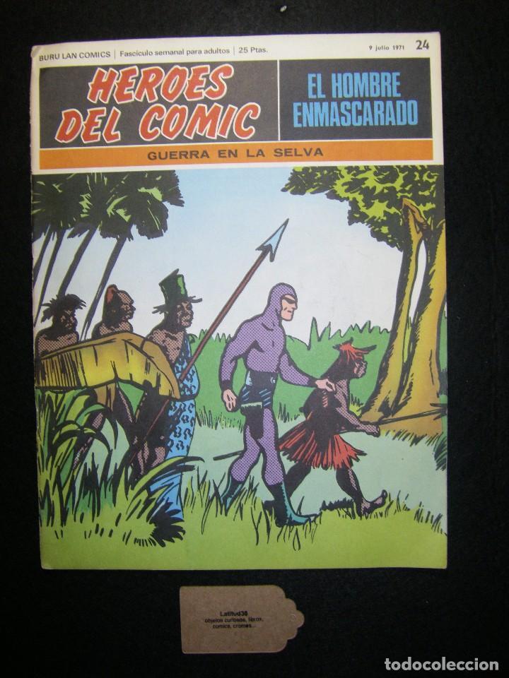 HÉROES DEL CÓMIC. EL HOMBRE ENMASCARADO. GUERRA EN LA SELVA, JULIO 1971 BURU LAN (Tebeos y Comics - Buru-Lan - Hombre Enmascarado)
