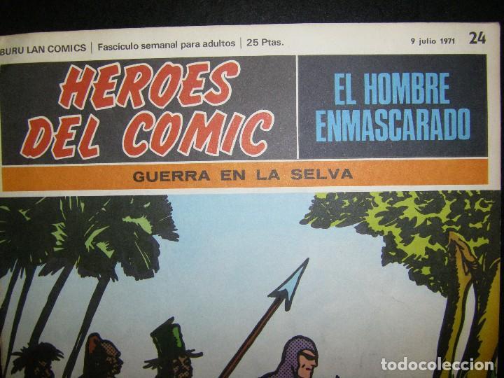 Cómics: héroes del cómic. El hombre enmascarado. Guerra en la selva, Julio 1971 Buru Lan - Foto 5 - 112024307