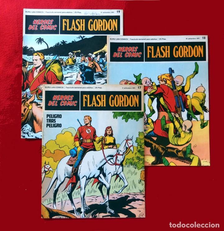 FLASH GORDON,LOTE 3 FASCICULOS PERTENECIENTES AL TOMO 2, 1971 - Nº . 17, 18 Y 19, BURU LAN COMICS. (Tebeos y Comics - Buru-Lan - Flash Gordon)