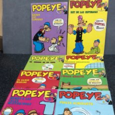 Cómics: POPEYE, LOTE 8 EJEMPLARES -EDITA : BURU LAN - Nº 1,2,7,8,9,12,14,16. Lote 113262043