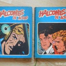 Cómics: LOTE HALCONES DE ACERO HEROES DEL COMIC BURULAN 1 Y 2 TOMOS COMPLETA BURU LAN AÑOS 70 1974. Lote 113416287