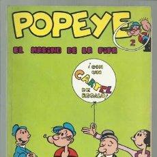Cómics: POPEYE Nº 2: EL MARINO DE LA PIPA, 1970, BURU LAN, MUY BUEN ESTADO, CONTIENE POSTER 2, OLIVIA. Lote 113551739