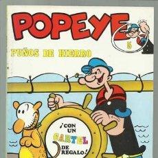 Cómics: POPEYE 5: PUÑOS DE HIERRO, 1971, BURU LAN, MUY BUEN ESTADO. CONTIENE POSTER 5 BRUTUS. Lote 113553995
