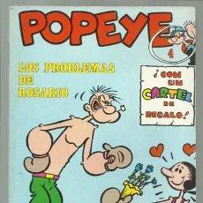 Cómics: POPEYE 4: LOS PROBLEMAS DE ROSARIO, 1971, BURU LAN, MUY BUEN ESTADO. CONTIENE POSTER 4 PILON. Lote 113554215