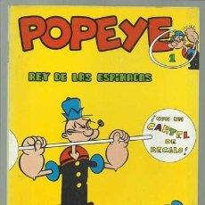 Cómics: POPEYE Nº 1: EL REY DE LAS ESPINACAS, 1970, BURU LAN, MUY BUEN ESTADO. CONTIENE POSTER 1, POPEYE. Lote 113554879