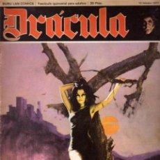 Cómics: DRÁCULA DE BURU LAN (1971): COLECCIÓN COMPLETA DE 12 FASCÍCULOS. Lote 114285327