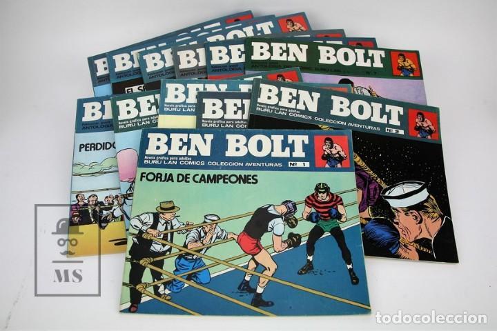 COLECCIÓN COMPLETA - BEN BOLT / COLECCIÓN AVENTURAS Nº 1 AL 12 - EDICIONES BURU LAN - AÑO 1973 (Tebeos y Comics - Buru-Lan - Otros)