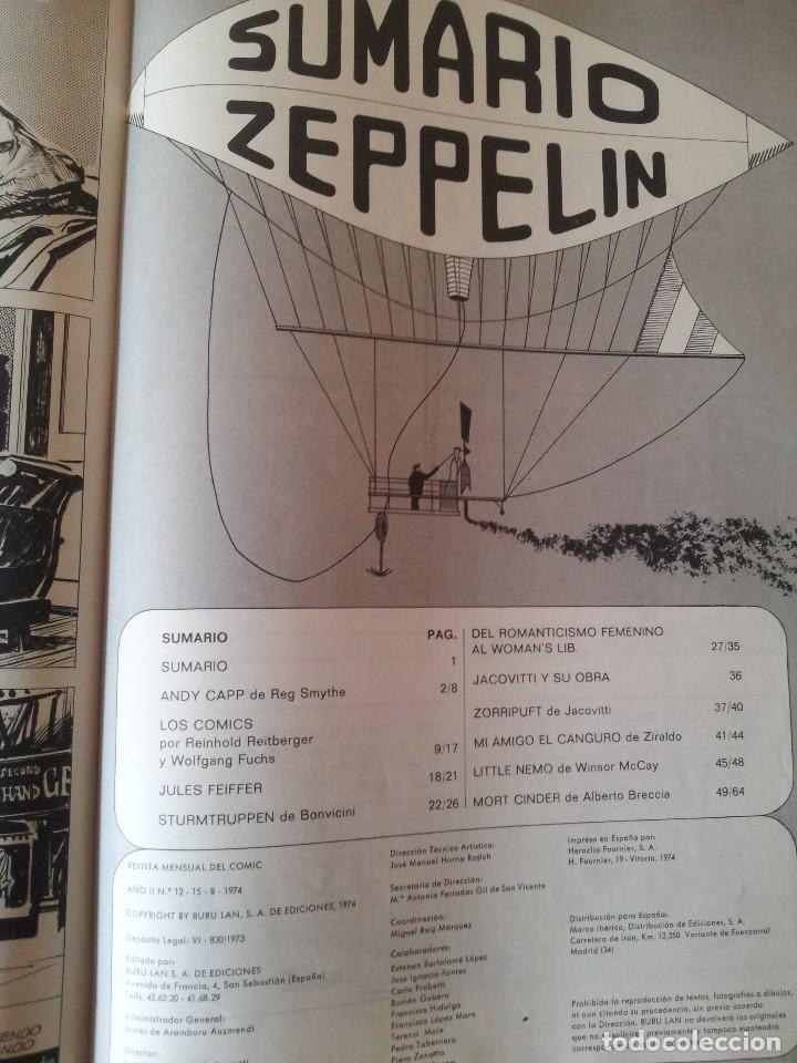 Cómics: ZEPPELIN - REVISTA MENSUAL DEL COMIC - 12 NÚMEROS EN 1 TOMO - BURU LAN EDICIONES 1973/74 - Foto 6 - 115233959