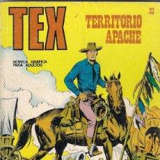 Cómics: TEX. Nº 23. TERRITORIO APACHE. Lote 117180751