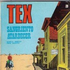 Cómics: TEX. Nº 29. SANGRIENTO ATARDECER. Lote 117180799