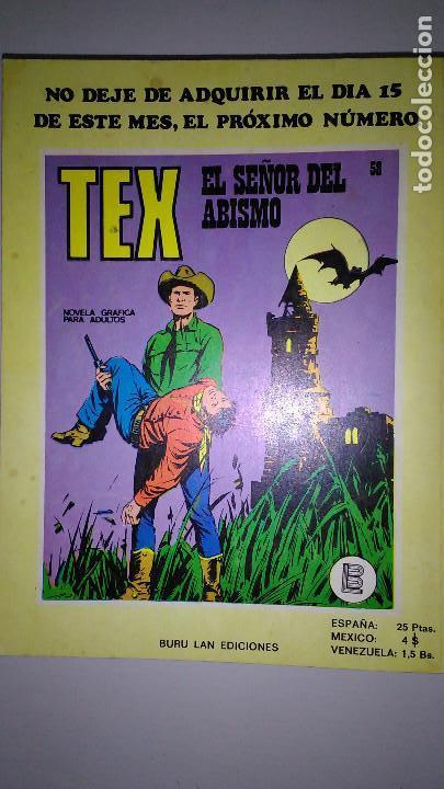 Cómics: * TEX * EDICIONES BURULAN 1970 * LOTE 7 NUMEROS OFERTA * - Foto 12 - 119502015