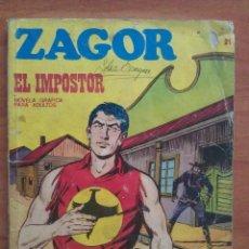 Cómics: ZAGOR : EL IMPOSTOR Nº 21. Lote 119981863