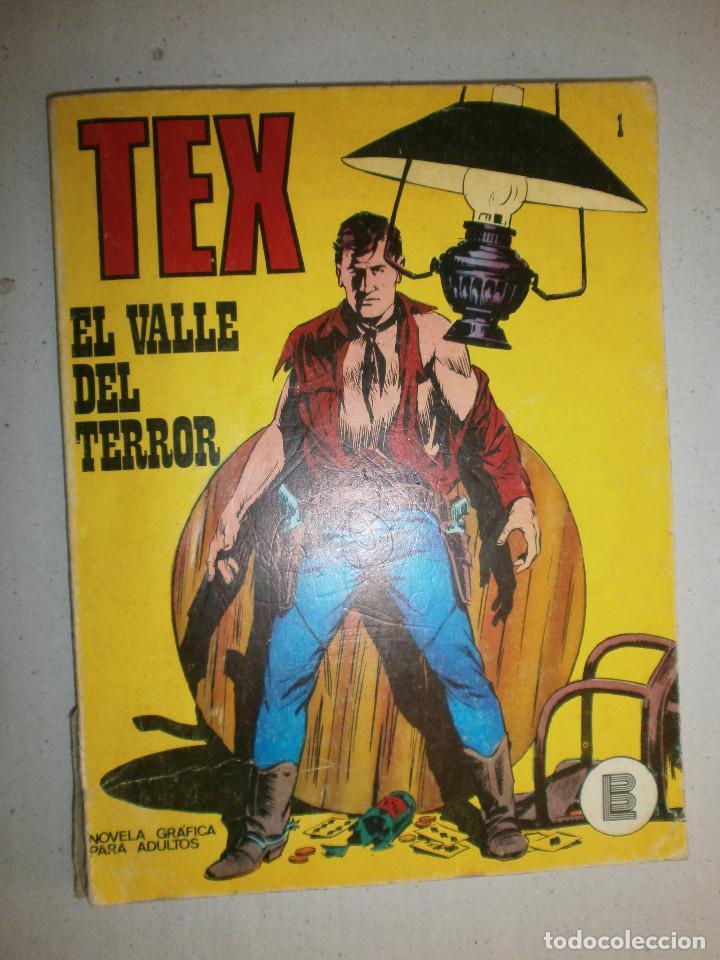 TEX ' EL VALLE DEL TERROR ' Nº 1 PRIMERA EDICIÓN ESPAÑA 1971 (Tebeos y Comics - Buru-Lan - Tex)
