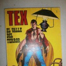 Cómics: TEX ' EL VALLE DEL TERROR ' Nº 1 PRIMERA EDICIÓN ESPAÑA 1971 . Lote 120428863