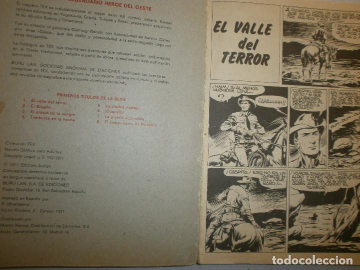 Cómics: Tex ' El Valle del Terror ' nº 1 primera edición España 1971 - Foto 2 - 140744254