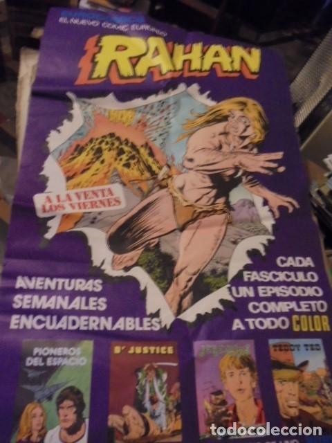 POSTER GIGANTE RAHAN PUBLICIDAD KIOSKOS - 1975 - ENVIO GRATIS (Tebeos y Comics - Buru-Lan - Rahan)