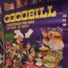 Cómics: POSTER COCOBILL - AÑOS 70 - JACOVITTI - ENVIO CERTIFICADO GRATIS. Lote 160276796