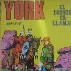 Cómics: YORK EL BOSQUE EN LLAMAS NÚMERO 2. Lote 127542799