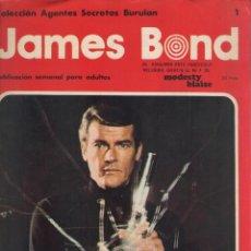 Cómics: JAMES BOND-BURULAN-AÑO 1974-COLOR-FORMATO GRAPA-Nº 1-A TRAVES DEL MURO UN EXTRAÑO EJEMPLAR. Lote 128623499