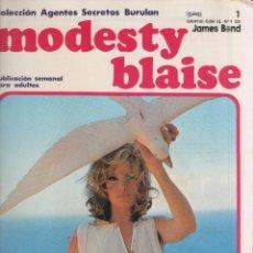 Cómics: MODESTY BLAISE-BURULAN-AÑO 1974-COLOR-FORMATO GRAPA-Nº 1-LA BARRA. Lote 128623903