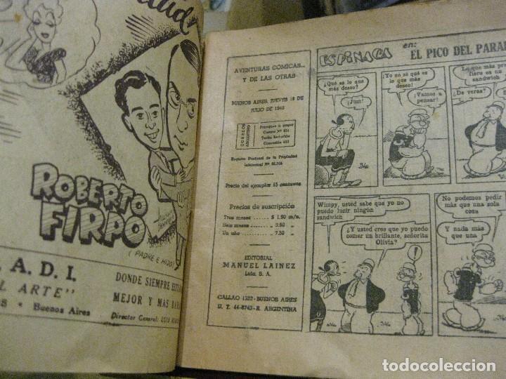 Cómics: comic espinaca 1948 . ed manuel lainez ediciones argentinas buenos aires . popeye / wimpy olivia - Foto 4 - 128819803