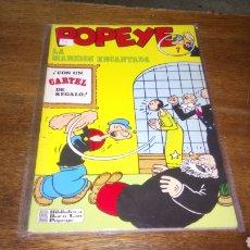 Cómics: CÓMIC DE POPEYE N° 7,BURULAN DE EDICIONES DE 40 PESETAS DE LOS AÑOS 70. Lote 129145114