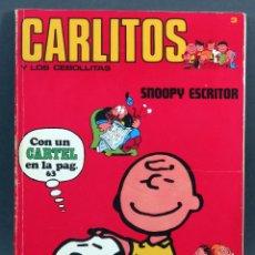 Cómics: CARLITOS Y LOS CEBOLLITAS SNOOPY ESCRITOR Nº 3 ED BURU LAN BURULAN 1971. Lote 129156731