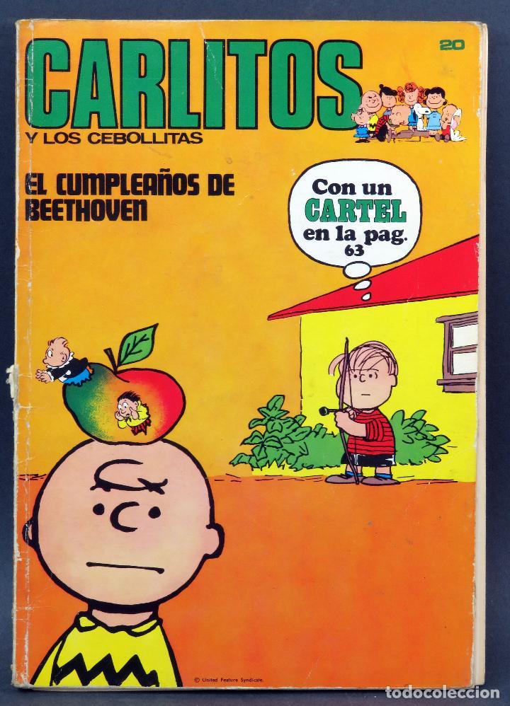 CARLITOS Y LOS CEBOLLITAS EL CUMPLEAÑOS DE BEETHOVEN Nº 20 ED BURU LAN BURULAN 1972 (Tebeos y Comics - Buru-Lan - Otros)