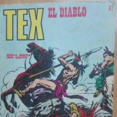 Cómics: TEX 67.EL DIABLO. Lote 129969247