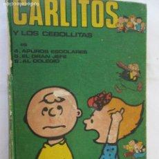 Cómics: CARLITOS Y LOS CEBOLLITAS - APUROS ESCOLARES -EL GRAN JEFE- AL COLEGIO. BURU LAM 1971. Lote 171798969