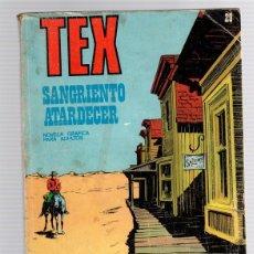 Cómics: TEX SANGRIENTO ATARDECER. Nº 29. COLECCION TEX, 1972. Lote 130491075