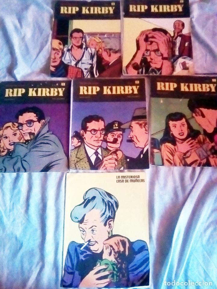 LOTE DE 6 NUMEROS DE - RIP KIRBY - BURU LAN COMICS .Nº 5, 6, 7 , 9 , 10 ,11. (Tebeos y Comics - Buru-Lan - Rip Kirby)