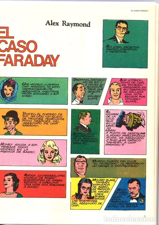 Cómics: RIP KIRBY. EL CASO FARADAY. BURULAN, 1974 - Foto 2 - 131406977