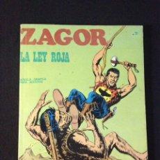 Cómics: ZAGOR Nº 12. LA LEY ROJA. BURU LAN.. Lote 131467394