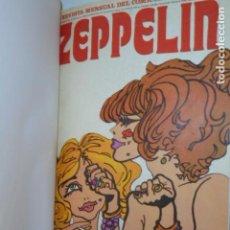 Fumetti: REVISTA MENSUAL DEL COMIC ZEPPELIN COMPLETA 12 NUMEROS ENCUADERNADOS EN DOS TOMOS - BURU LAN -. Lote 131860826