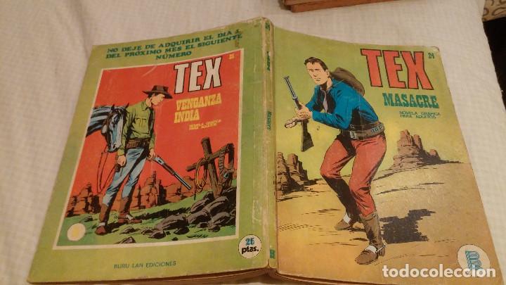 TEX - Nº 24 - MASACRE - BURU LAN - 1971 (Tebeos y Comics - Buru-Lan - Tex)