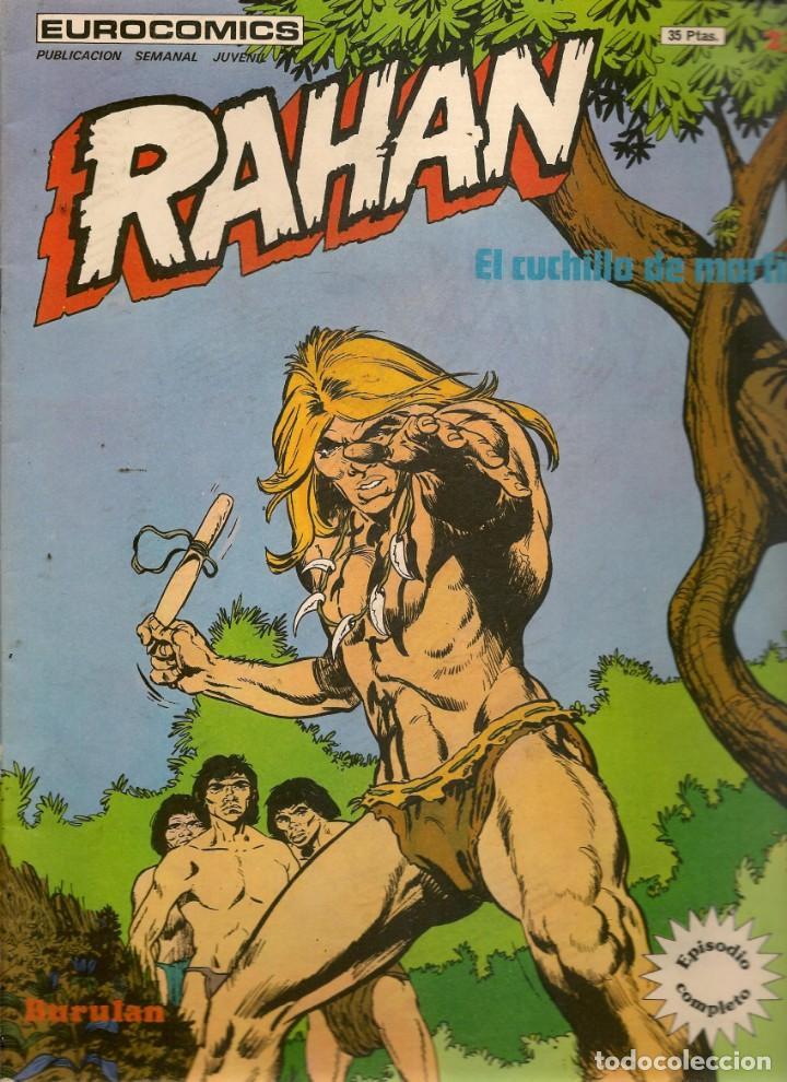 RAHAN. Nº 23. EL CUCHILLO DE MARFIL. EPISODIO COMPLETO. BURU LAN 1974.(ST/MG) (Tebeos y Comics - Buru-Lan - Rahan)