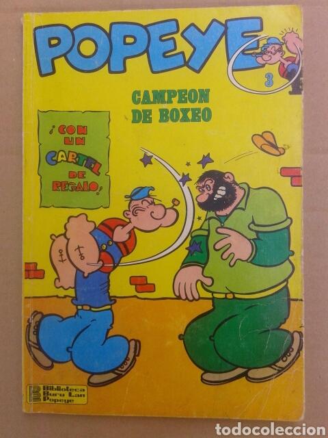 POPEYE: CAMPEÓN DE BOXEO. BIBLIOTECA BURU LAN POPEYE N°3. POR BUD SAGENDORF (BURU LAN, 1970). (Tebeos y Comics - Buru-Lan - Popeye)