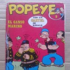 Cómics: POPEYE: EL GANSO MARINO. BIBLIOTECA BURU LAN POPEYE N°9. POR ZABOLY (BURU LAN, 1971).. Lote 135325214