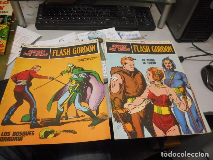 FLASH GORDON NUMERO 1 Y 2 BUEN ESTADO HEROES DEL COMIC BURULAN (Tebeos y Comics - Buru-Lan - Flash Gordon)