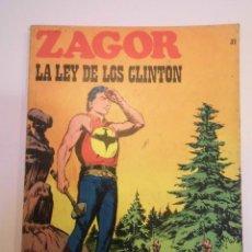 Cómics: ZAGOR NUM 31 – LA LEY DE LOS CLINTON- BURU LAN 1972. Lote 135610202