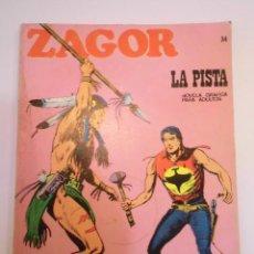 Cómics: ZAGOR NUM 34 – LA PISTA - BURU LAN 1972. Lote 135610486