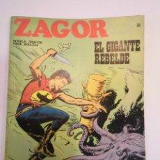 Cómics: ZAGOR NUM 35 – EL GIGANTE REBELDE - BURU LAN 1972. Lote 135610686