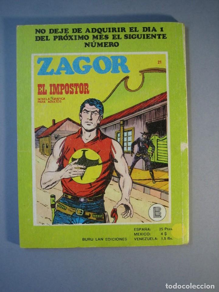 Cómics: ZAGOR (1971, BURU LAN) 20 · 15-III-1972 · EL ESCUADRON FANTASMA - Foto 2 - 135827526