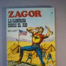 Cómics: ZAGOR (1971, BURU LAN) 22 · 15-IV-1972 · LA CAMPANA SOBRE EL RIO. Lote 135827938