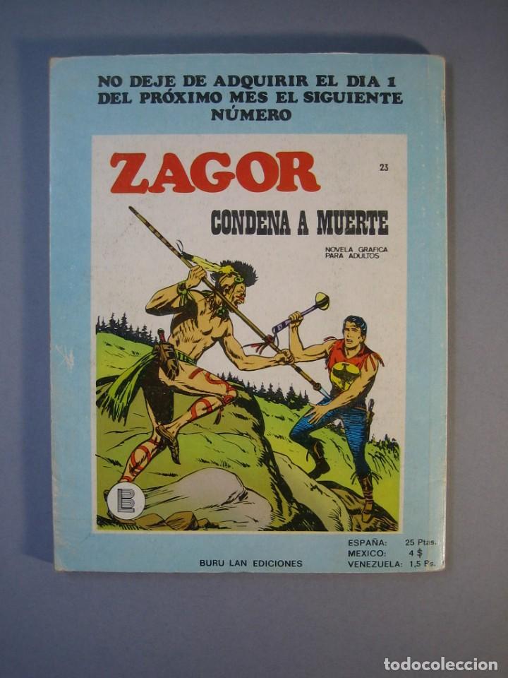 Cómics: ZAGOR (1971, BURU LAN) 22 · 15-IV-1972 · LA CAMPANA SOBRE EL RIO - Foto 2 - 135827938