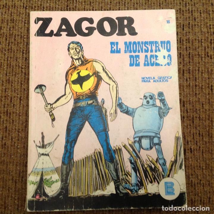 ZAGOR BURU LAN NUMERO DIECISEIS (Tebeos y Comics - Buru-Lan - Zagor)