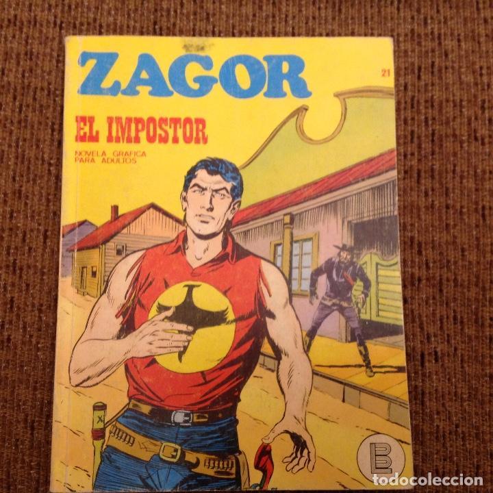 ZAGOR BURU LAN NUMERO VEINTIUNO (Tebeos y Comics - Buru-Lan - Zagor)